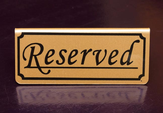 reserved license