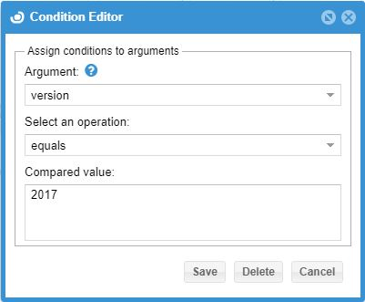 app manager Condition Editor version
