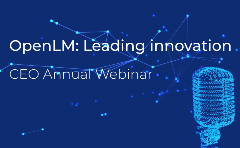 OpenLM CEO Annual Webinar: Leading Innovation